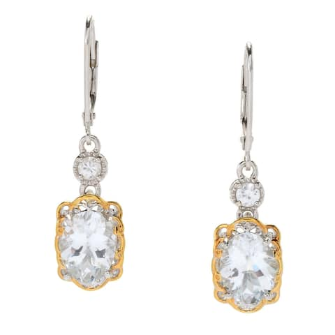 Michael Valitutti Palladium Silver Brazilian Goshenite & White Zircon Drop Earrings