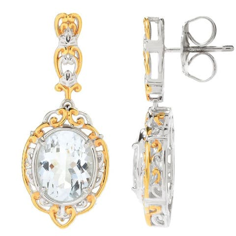 Michael Valitutti Palladium Silver Goshenite Drop Earrings
