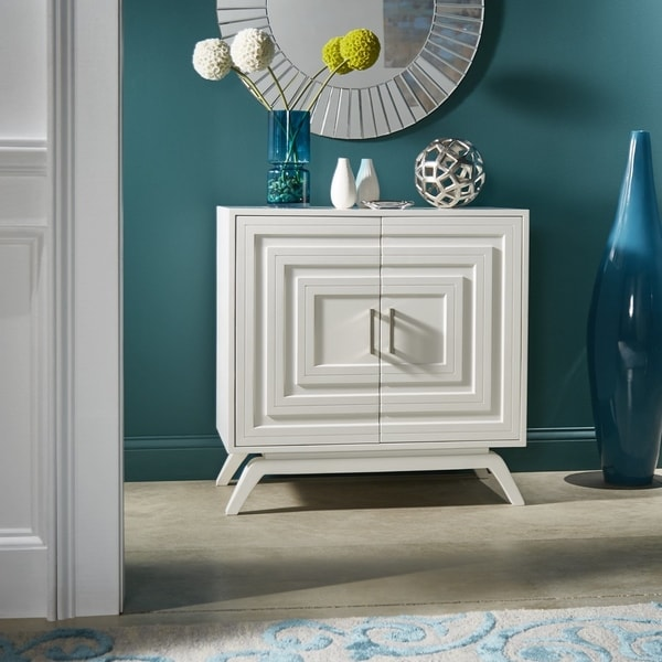 Carson Carrington Ilsbo White Finish Nightstand