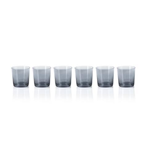 Gray Luster Rock Glasses, Set of 6