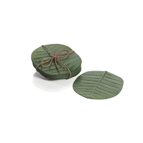 Eva Banana Leaf Coasters, Set of 12