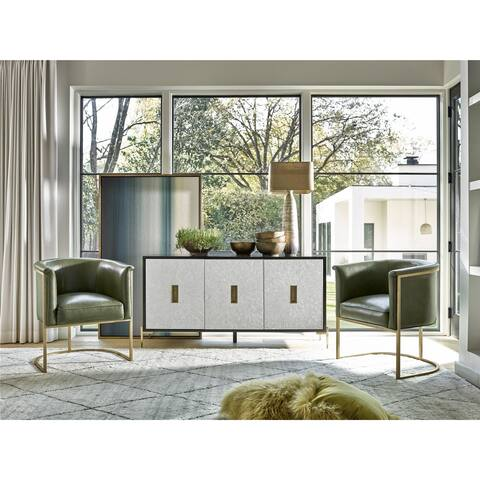 Universal Furniture Grant White Wood TV Stand