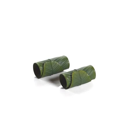 6-Piece Eva Banana Leaf Napkin Ring Set, Pack of 2