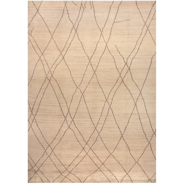 Handmade One-of-a-Kind Wool Rug (India) - 10' x 14'
