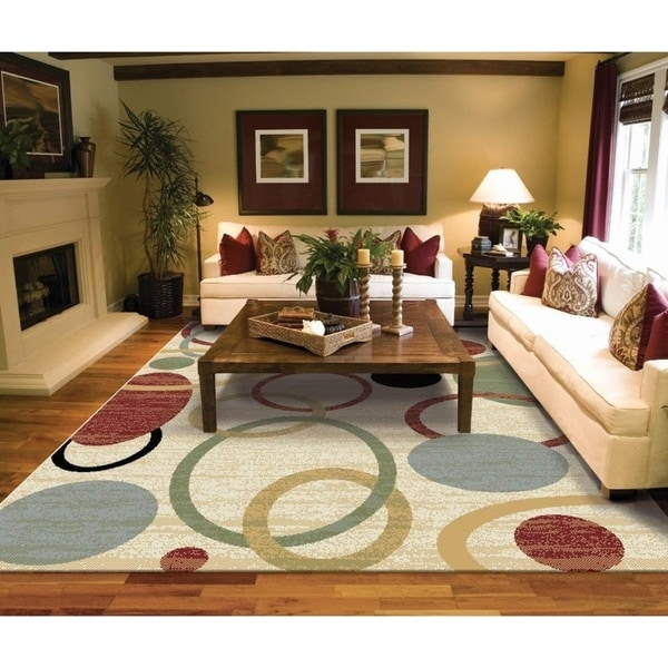 Copper Grove Parkano Ivory Circles and Rings Area Rug. Opens flyout.