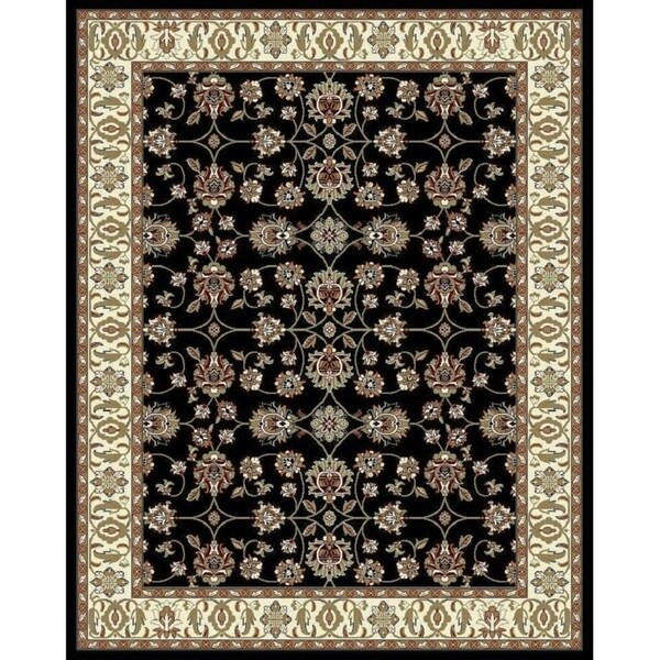 Do Area Rugs Work Over Carpet: Shop Copper Grove Sastamala Black And Beige Bordered