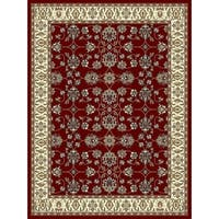 Copper Grove Sastamala Crimson and Beige Bordered Persian Area Rug