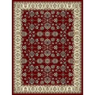 Copper Grove Sastamala Crimson and Beige Bordered Persian Area Rug