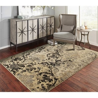 Copper Grove Porvoo Distressed Black and Beige Area Rug