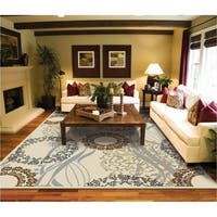 Copper Grove Raasepori Ivory, Brown, and Blue Area Rug
