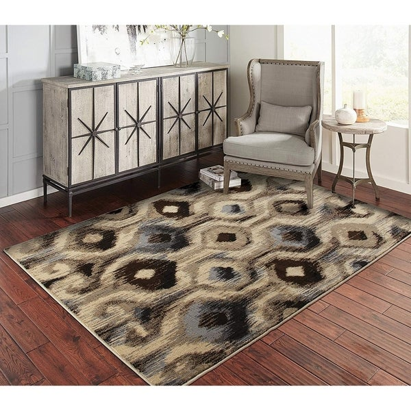 Copper Grove Riihimaki Hexagonal Beige, Grey, Chocolate, and Cream Area Rug