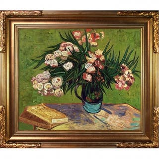 Vincent Van Gogh 'Majolica Jar with Branches of Oleander, 1888' Hand Painted Oil Reproduction