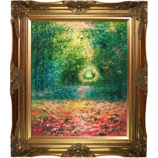 Claude Monet 'The Undergrowth in the Forest of Saint-Germain, 1882' Hand Painted Oil Reproduction