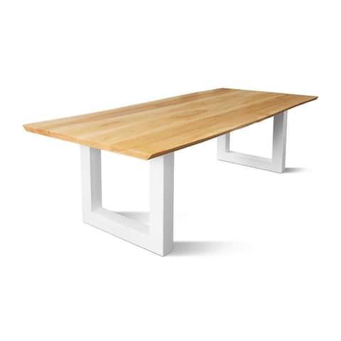 BOHME Dining table - Natural Oak/White