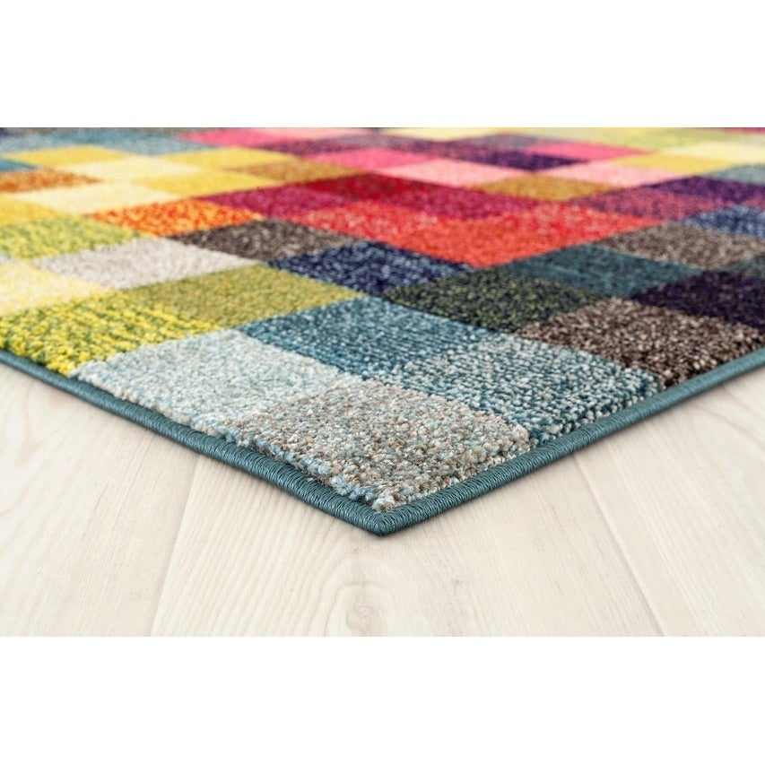 Multi Colored 6 X 9 Area Rug Carpet