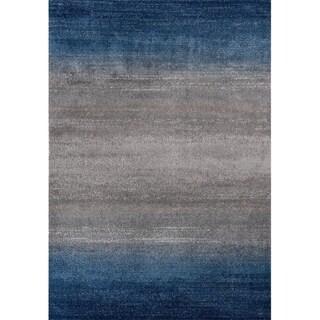 3396 Blue Ombre 5x7 Area Rug Modern - 5' x 7'