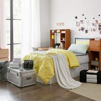 Ultimate Dorm Supplies Pack - Twin XL Pin Tuck Limelight Yellow Color