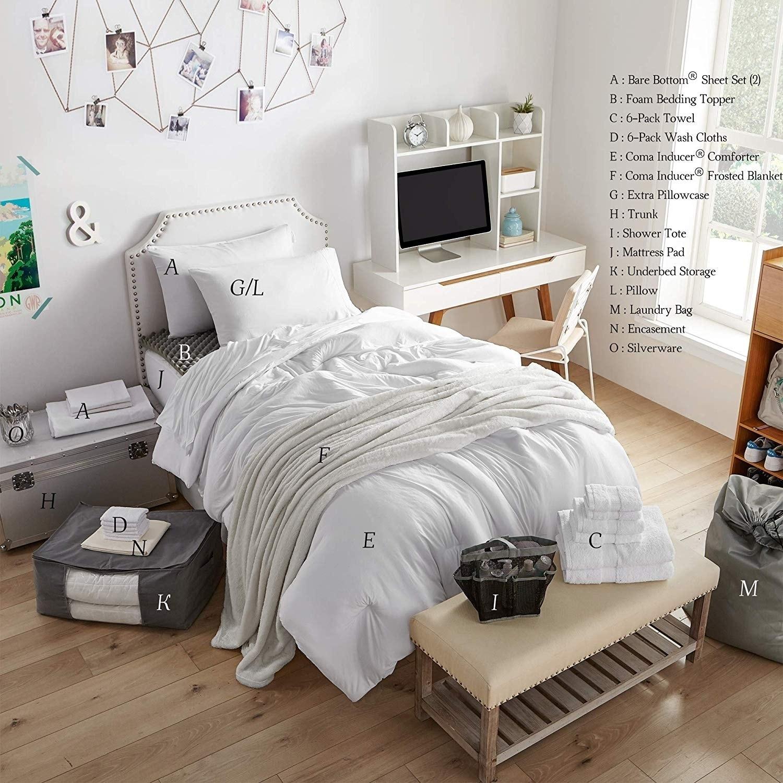 Shop Porch & Den Hathaway White Twin XL Dorm Room and Bedding Set