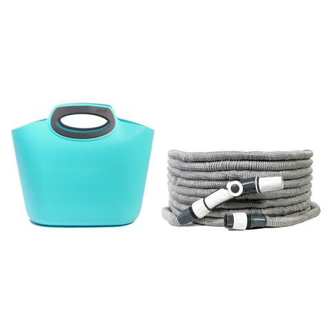 G.F. Garden Aquapop Maxi Extendable Hose Kit - Max. 58 psi, 100 ft. Self-Extendable Hose