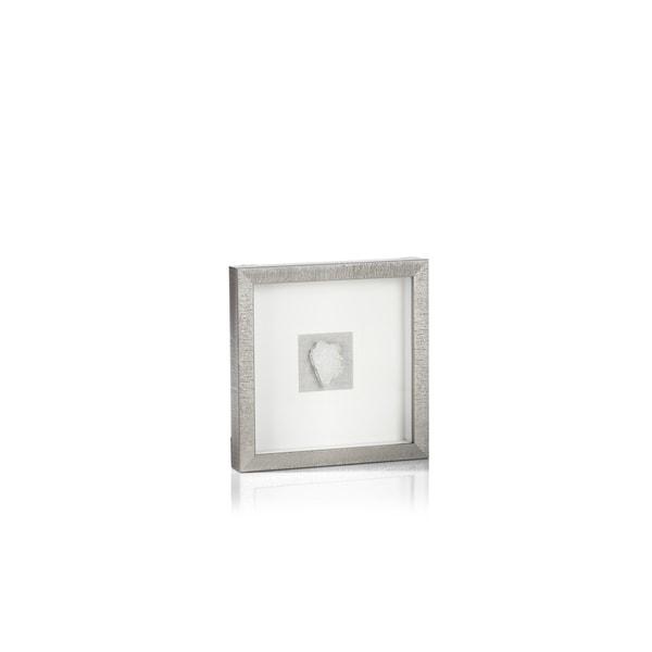 Muzo Silver Framed Crystal Wall Decor, 12 x 12