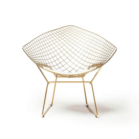 Silver Orchid Bow Champagne Gold Wire Diamond Chair