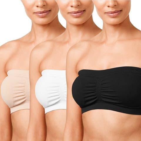 Women's Plus Size Stretch Bandeau Bra