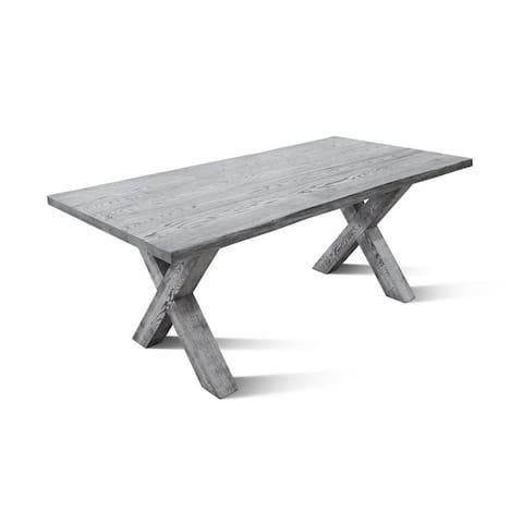 BOHME GR Dining Table - Whitewashed Oak - N/A