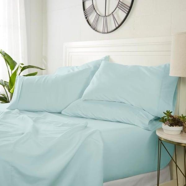 Luxury Ultra Soft 6 Piece Bed Sheet Set by Sharon Osbourne Home. Opens flyout.