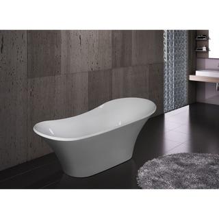 "AKDY 71"" Bathroom White Color Acrylic Luxury Freestanding Soaking Shower Bath Tub"