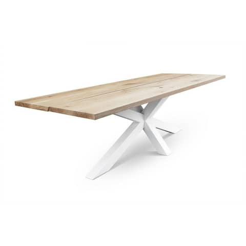 ADLER CL dining table - Natural Oak/White - Natural Oak/White - N/A