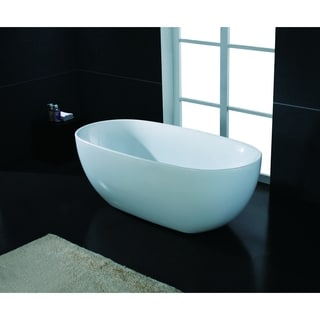 "AKDY Bathroom 67"" Spa White Color Free Standing Acrylic Soaking Bathtub"