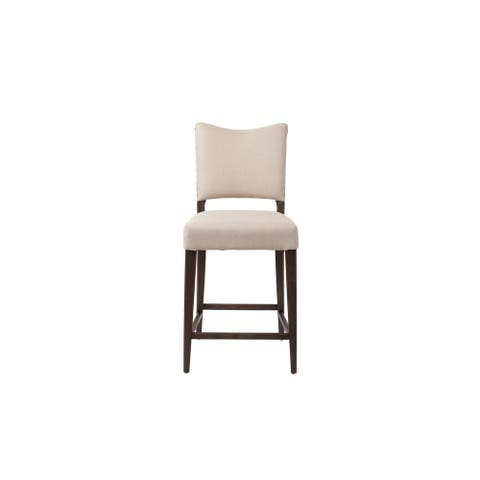 Continental Counter Stool in Oatmeal Linen