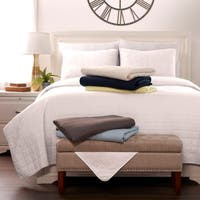 Luxury Ultra Soft Square Quilted Coverlet Set by Sharon Osbourne Home