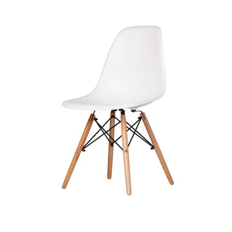 Austin Mid-Century Side Chair, White