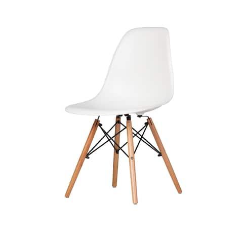 Austin Mid-Century Side Chair, White