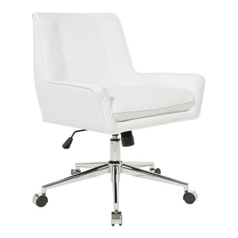 OSP Home Furnishings Quinn Office Chair with Faux Leather