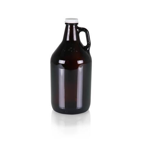 Glass 64-oz. Growler, (Amber Translucent)