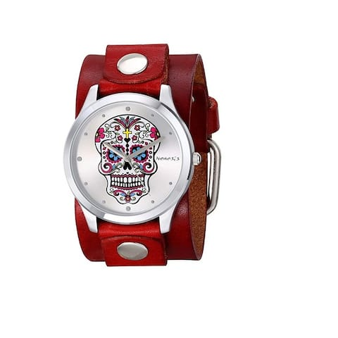 Nemesis 'Sugar Skull' Watch with Junior Leather Cuff Band R925S