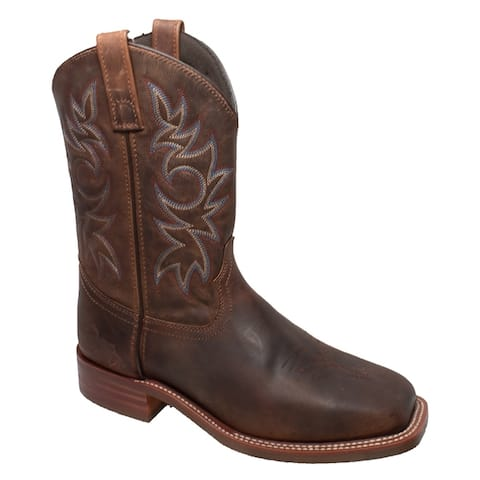 Mens 11 inch Western Square Toe Brown