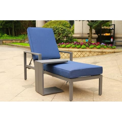 Corner Brook 2-piece Outdoor Patio Synthetic Adjustable Aluminum Pool Chaise Chair Set by Havenside Home