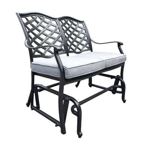 Havenside Home Deer Lake Bench Glider with Cushion