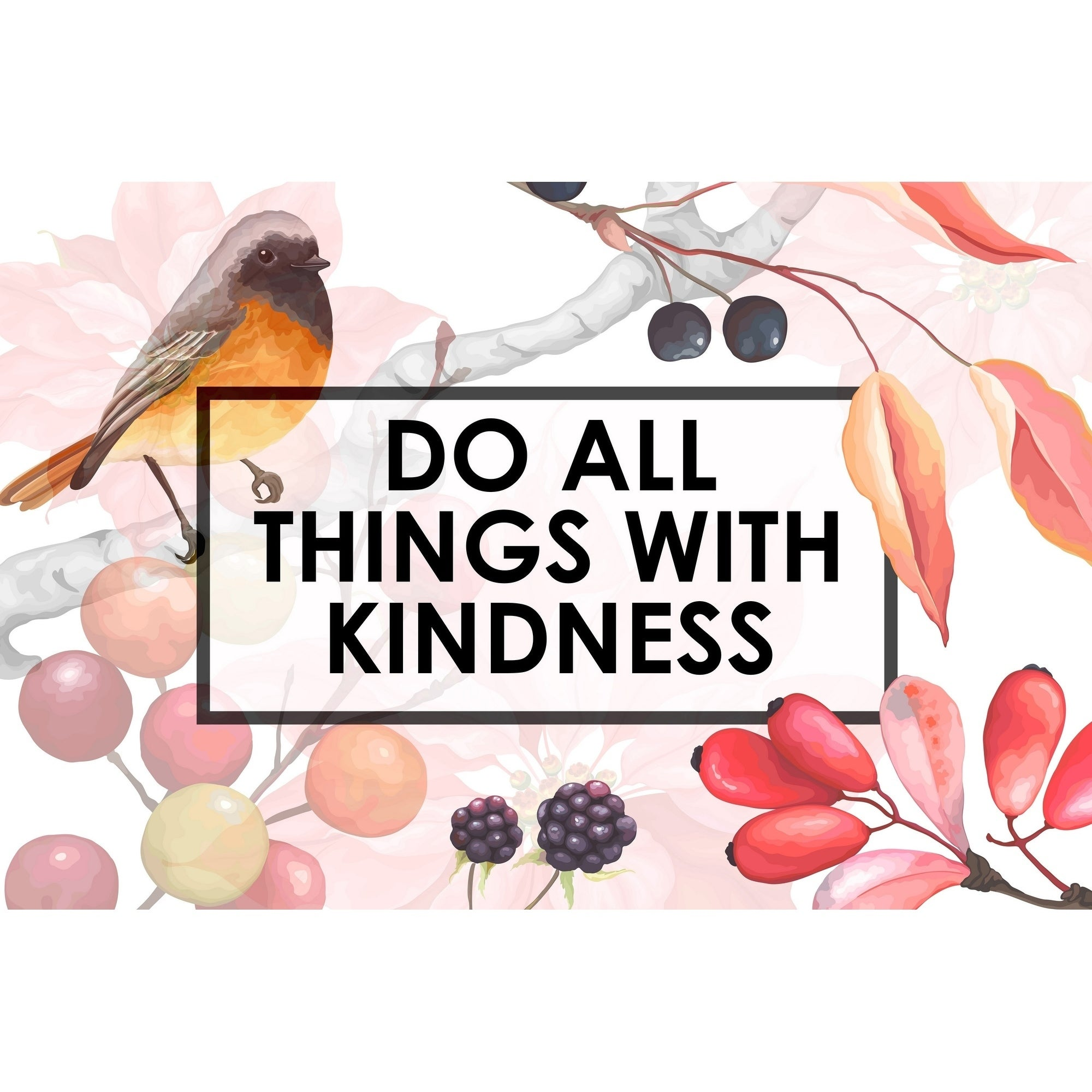 Shop Marmont Hill Handmade Do All Things With Kindness V Print On Wrapped Canvas Overstock 28072370