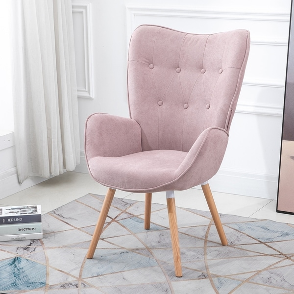 Fabulous Pink Mid Century Modern Living Room Chairs Shop Online At Machost Co Dining Chair Design Ideas Machostcouk