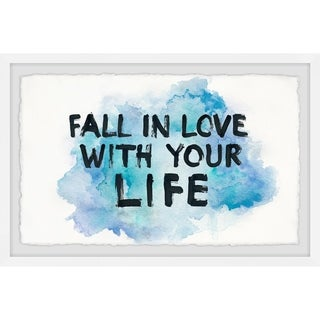 Marmont Hill - Handmade Fall in Love with Your Life III Framed Print