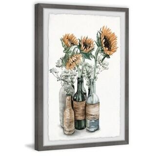 Marmont Hill - Handmade Sunflower Centerpiece Framed Print