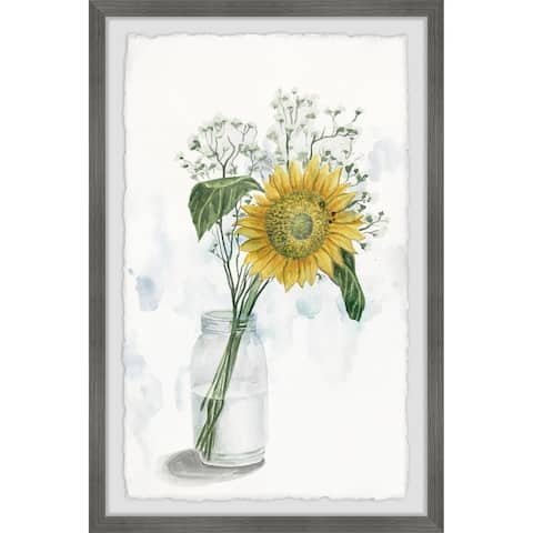 Carson Carrington Handmade Sunflower in Glass Vase II Framed Print
