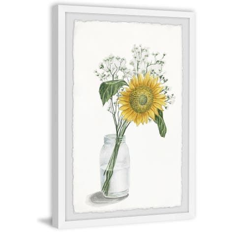 Carson Carrington Handmade Sunflower in Glass Vase Framed Print