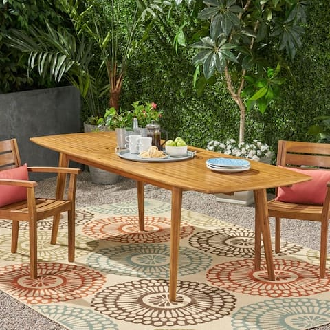 Stamford Outdoor Expandable Acacia Wood Dining Table by Christopher Knight Home