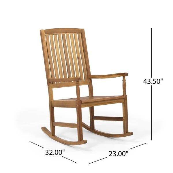 Arcadia Outdoor Acacia Wood Rocking Chairs (Set of 2) by Christopher Knight Home