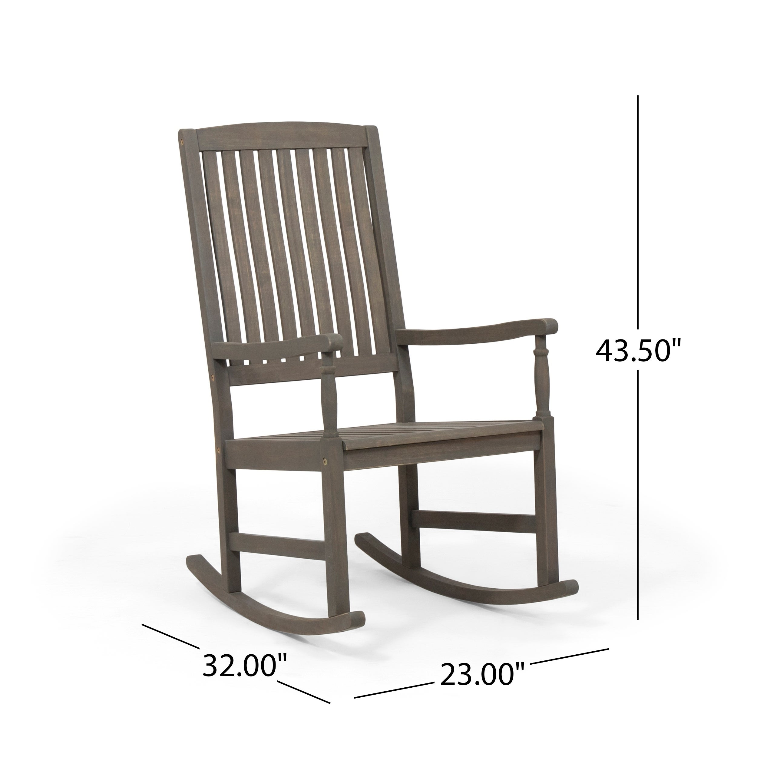 Arcadia Outdoor Acacia Wood Rocking Chair By Christopher Knight Home On Sale Overstock 28072871